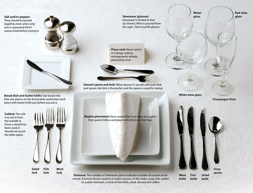 How to arrange your dining table for formal parties