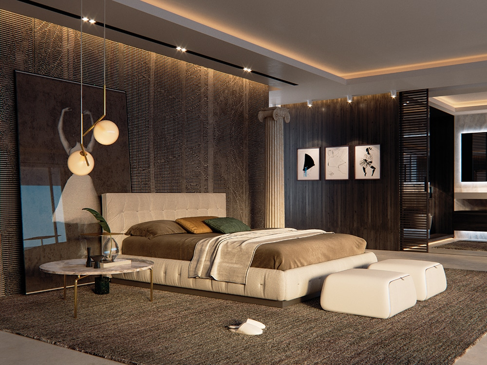 Creating the contemporary well-designed bedroom