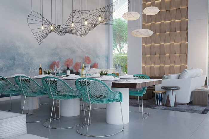 Dining set-up perfectly designed for the climate and environment