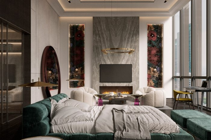 A hotel suite that feels like a master bedroom in a designer home