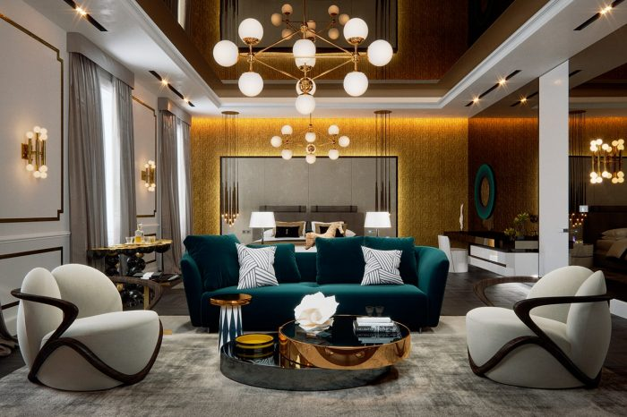 Lounge area of suite that would rival any 6-star luxury hotel suite