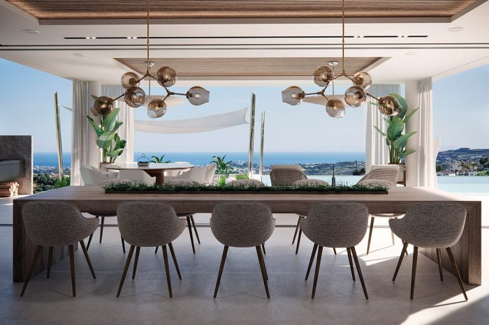 The Kitchen / Dining area also has stunning views, which is not surprising, given that the house was designed to maximise the views from every single room.