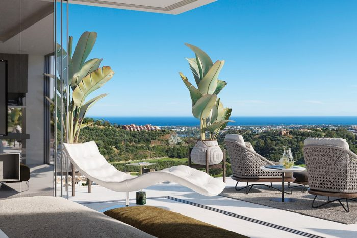 The view of the sea from the Master Bedroom can be enjoyed as you wake up in the morning.