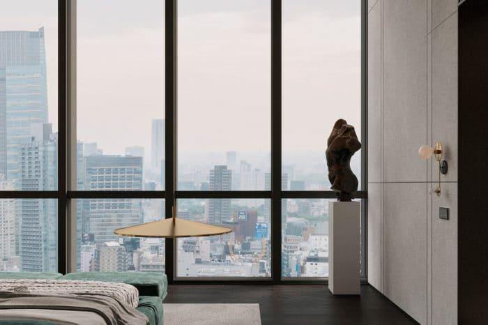 View the Manhattan skyline as you wake