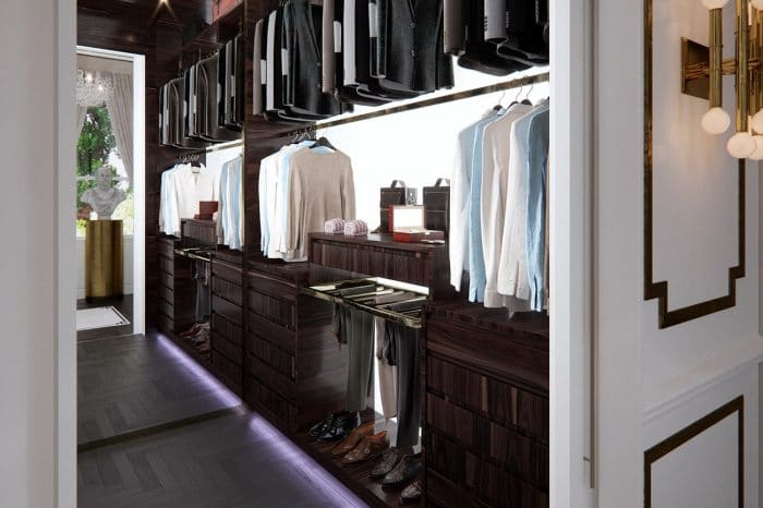 """There are """"His and Hers"""" walk-in wardrobes, this is the entrance to """"His"""""""