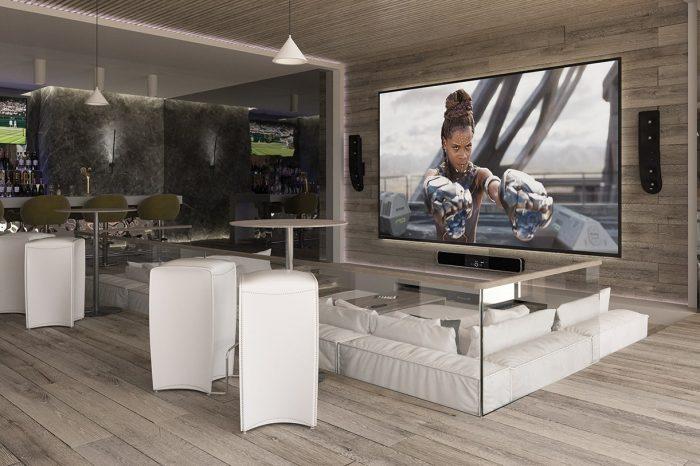 The über comfortable cinema area