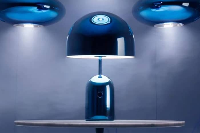 BELL TABLE LIGHT BLUE LARGE - TOM DIXON