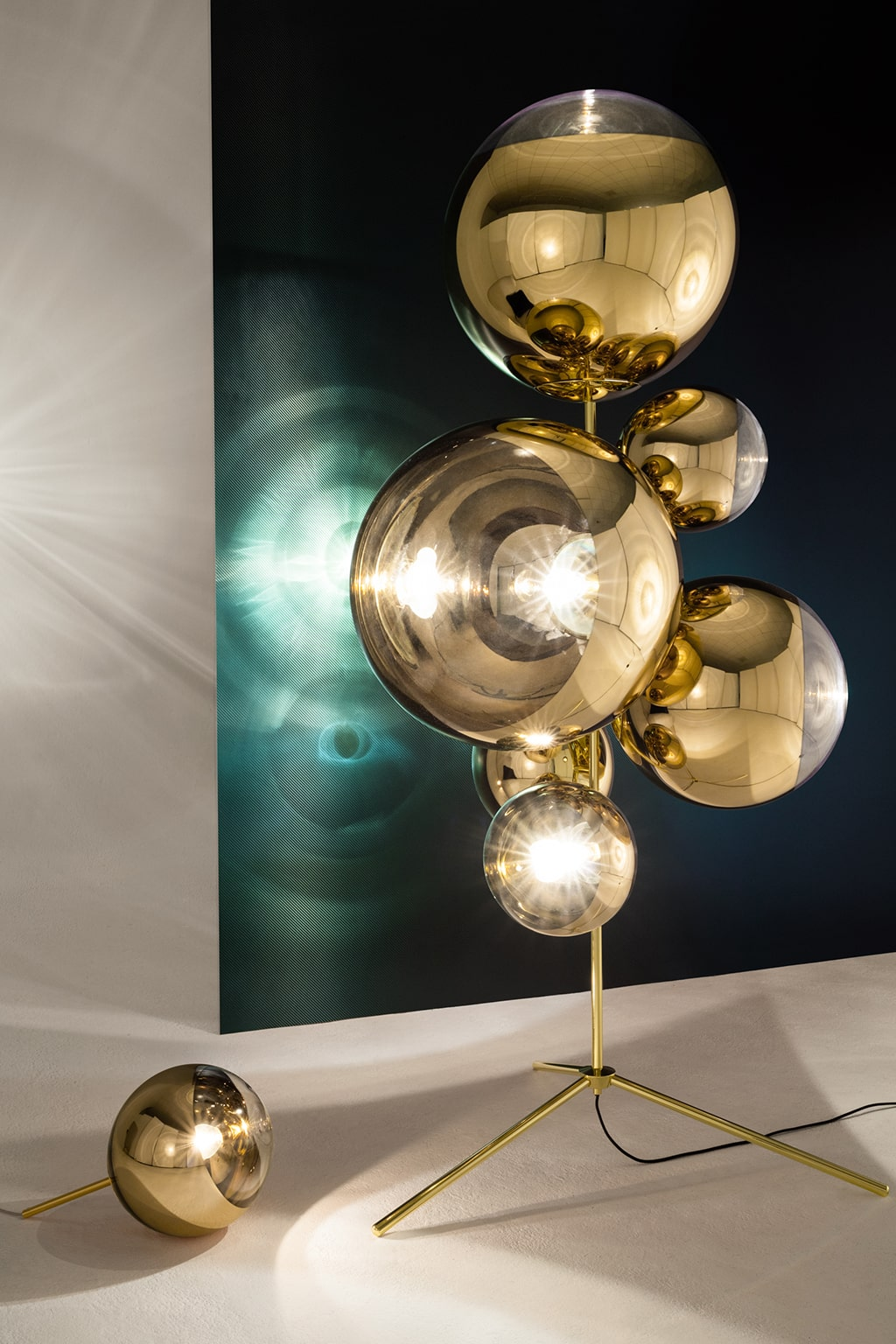 MIRROR BALL STAND CHANDELIER - TOM DIXON
