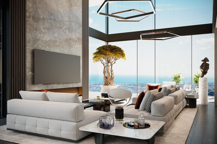 From these comfortable sofas you can enjoy the stunning view