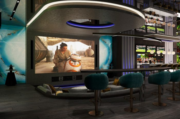 Cinema area with Bang & Olufsen sound system