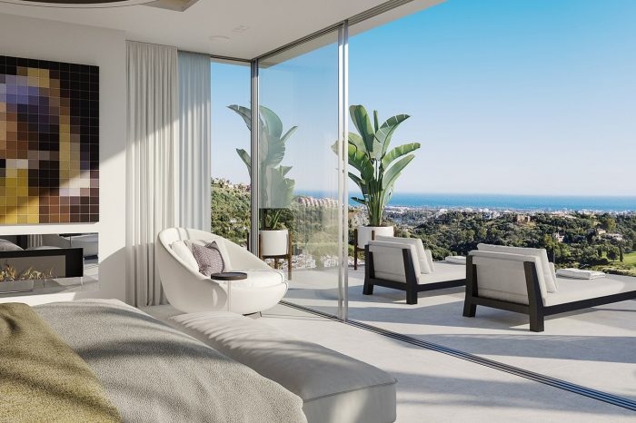 Master Bedroom: not a bad view to wake up to, especially when you don't even have to get out of bed to enjoy it!