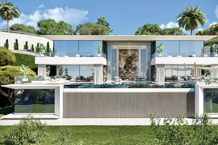 The award-winning Villa Alcuzcuz has amazing views straight over the Mediterranean Sea and beyond to the coast of Africa