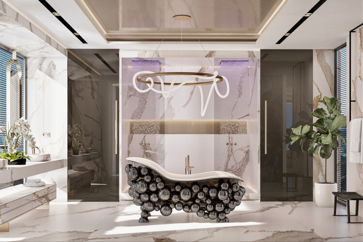 Master bathroom showing shower area