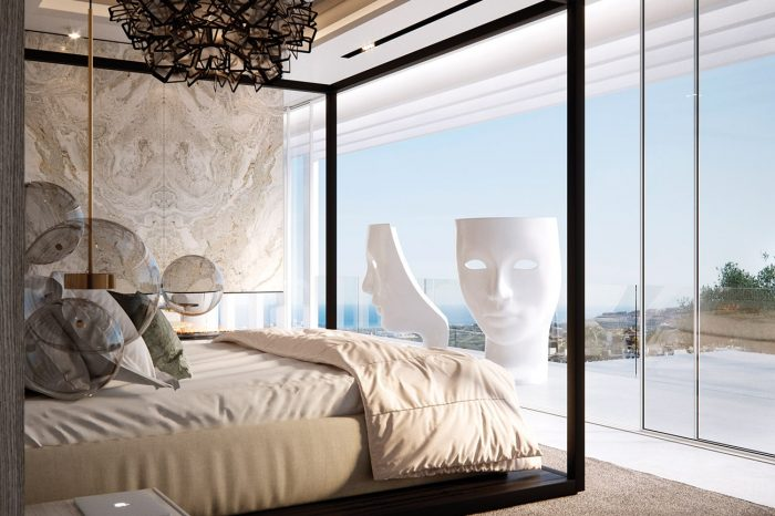 Master Bedroom and terrace.