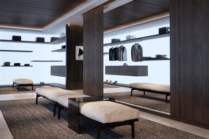 Master bedroom suite: walk-in wardrobe
