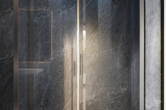 State-of-the-art showers in the master bathroom