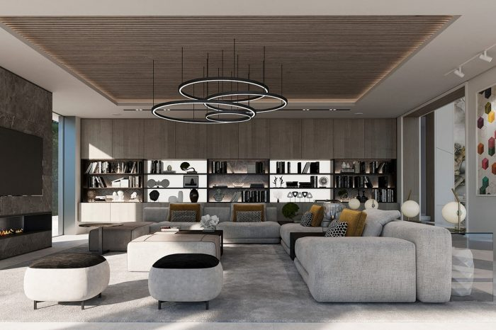 The Family TV room, designed for comfort and practicality.
