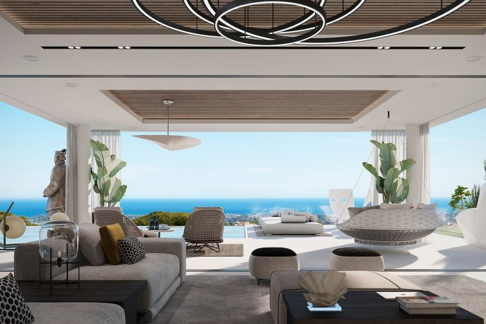 The Family TV room and terrace: the seamless flow to the outside space is inside/outside living at its finest.