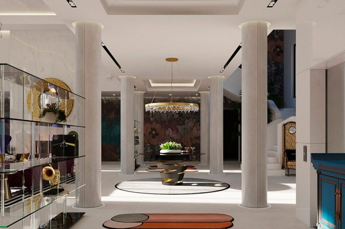 Natural light floods into the room from both sides
