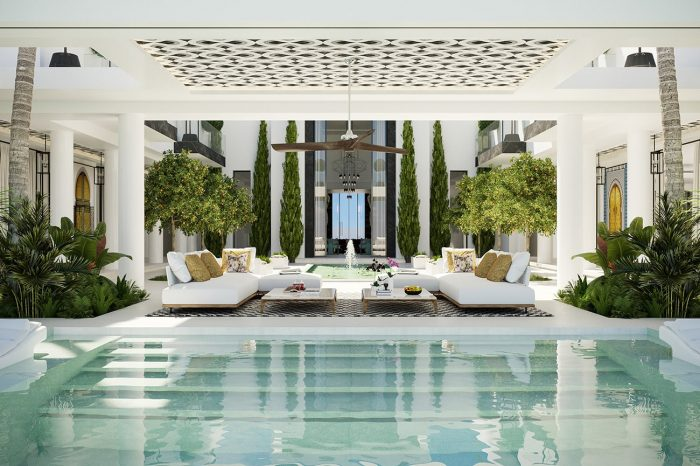 The inner courtyard, the sound of water, the air flowing naturally through the open terraces and seating areas: the Moors improved on the Roman version and UDesign have improved on that in this magnificent modern-day cortijo.