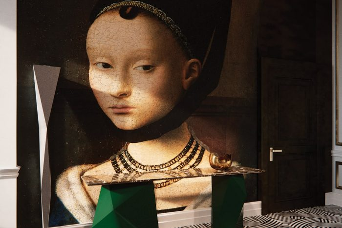 Portrait of a Young Girl by Petrus Christus. The old and new sit together for a striking effect.