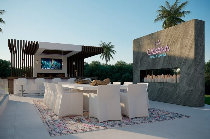 An idyllic setting for an intimate dinner under the stars with friends, perfect to kick off an exclusive private party.