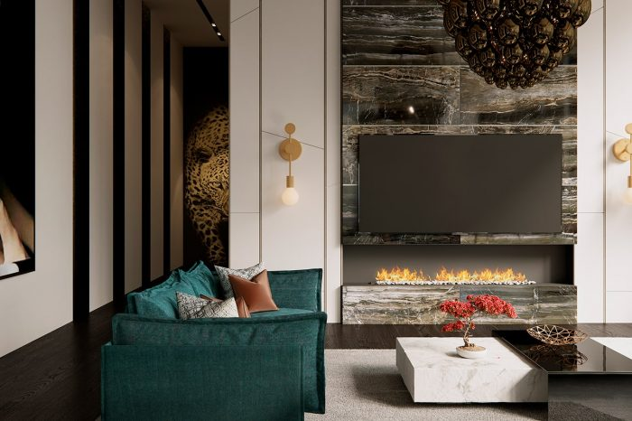 The Cavalli wall panel can be seen from the lounge